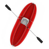 Inflatable kayak canoe isolated Stock Photos