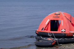 Inflatable Liferaft Royalty Free Stock Photos