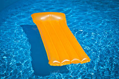 Inflatable mattress floating Royalty Free Stock Photo