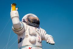 Inflatable mockup of the astronaut Stock Photo
