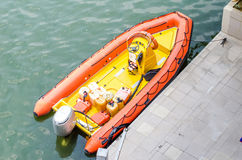 Inflatable motor boats Royalty Free Stock Photography
