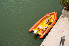 Inflatable motor boats Stock Photography