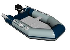 Inflatable motorboat  Stock Image