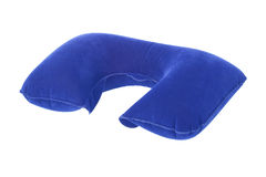 Inflatable Neck Pillow. On White Background Stock Photography