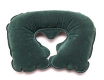 Inflatable Neck Pillow isolated. On white background Stock Photos
