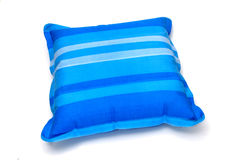 Inflatable pillow. An inflatable pillow isolated on a white background Stock Photos