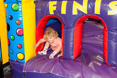 Inflatable playground Royalty Free Stock Image
