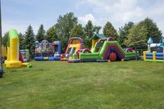 Inflatable playground 2 Stock Photo