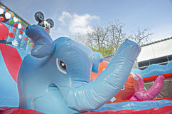 Inflatable playground Stock Image
