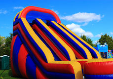 Inflatable Slide. Huge Inflatable Children Slide for events Royalty Free Stock Photography