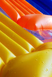 Inflatable pool loungers Royalty Free Stock Photos