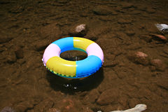 Inflatable pool toy in stream Royalty Free Stock Photo