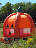 Pumpkin bouncy house Stock Photography