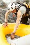 Inflatable Raft Maintenance Stock Image