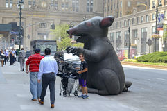 Inflatable rat used by Labor Unions in NYC Royalty Free Stock Photography