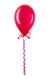 Inflatable red balloon isolated on white Stock Photography