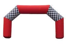 Inflatable red race finish gate isolated over white Stock Image