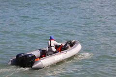 Inflatable Rescue Boat Stock Photos