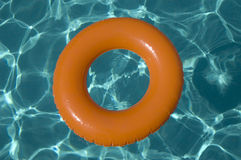 Inflatable ring on water royalty free stock photo