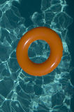 Inflatable ring on water royalty free stock image