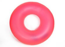 Inflatable Round Pool Tube. Isolated on White royalty free stock photography
