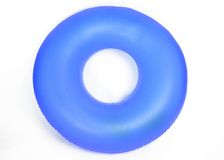 Inflatable Round Pool Tube. Isolated on White stock photo