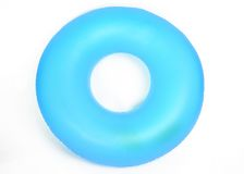 Inflatable Round Pool Tube. Isolated on White stock photography
