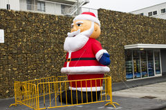 Inflatable Santa Claus Stock Images