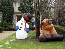 Inflatable snowman Stock Image