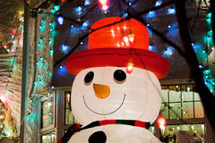 Inflatable snowman Stock Images