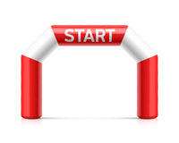 Inflatable start line arch Royalty Free Stock Photography