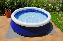 Inflatable swimming pool Stock Photo