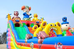 Inflatable toy Castle Royalty Free Stock Images