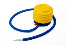 Inflatable Toy Foot Air Pump. Includes clipping path royalty free stock images
