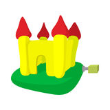 Inflatable trampoline castle cartoon icon Stock Photography