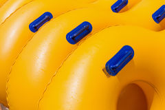Inflatable tubes in the water Park Royalty Free Stock Photo