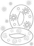 Inflatables coloring page Royalty Free Stock Image