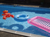Inflatables de la piscina. Imagen de archivo