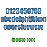 Inflate font Stock Photography