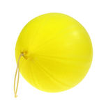 Inflated Yellow Punch Ball On White Stock Image
