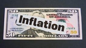 Inflatie: munt waardevermindering? Stock Afbeeldingen