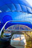 Inflating of a blue aerostat Royalty Free Stock Images