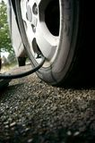 Inflating car tyre B Stock Image