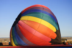 Inflating hot air ballon Royalty Free Stock Image