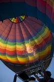 Inflating hot-air balloon Royalty Free Stock Photos