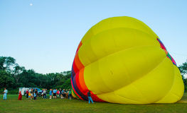 Inflating a Hot Air Balloon. Stock Images