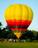 Inflating a Hot Air Balloon. Royalty Free Stock Photo
