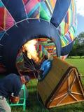 Inflating Hot Air Balloon Royalty Free Stock Photos
