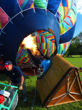Inflating Hot Air Balloon Royalty Free Stock Images