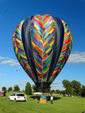 Inflating Hot Air Balloon Royalty Free Stock Photos